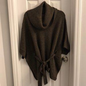 H&M cowl neck cape sweater